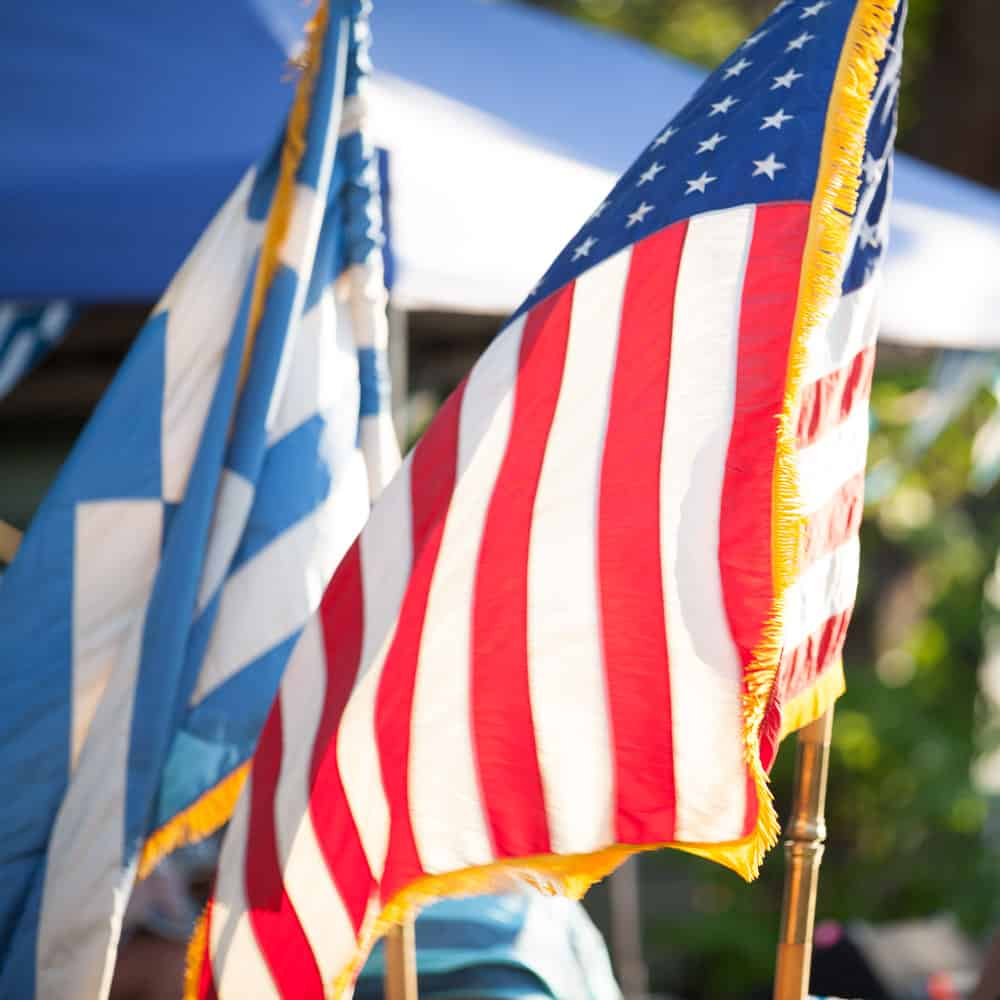 Montana Greek Festival Flags